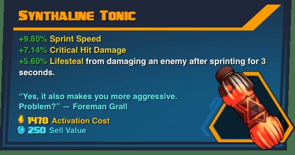 Synthaline Tonic - Battleborn Legendary Gear