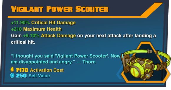 Vigilant Power Scouter - Battleborn Legendary Gear