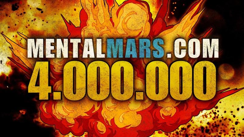 MentalMars 4 Million Milestone