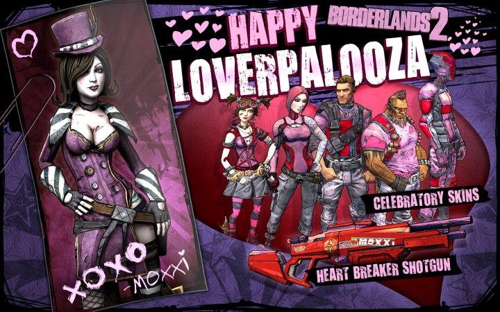 borderlands 2 loverpalooza skins shiftcodes