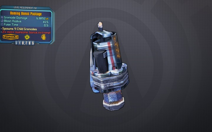 BLTPS Legendary Grenade Mod - Bonus Package