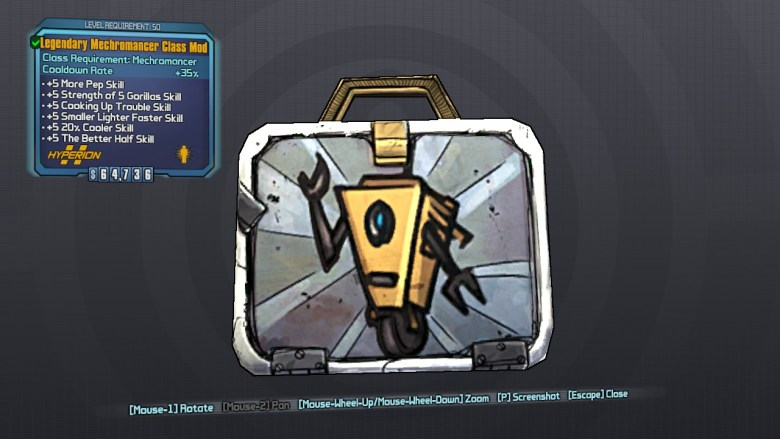 Borderlands 2 Legendary Mechromancer Class Mod