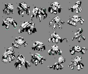 matias tapia - ironfist sketches - battleborn