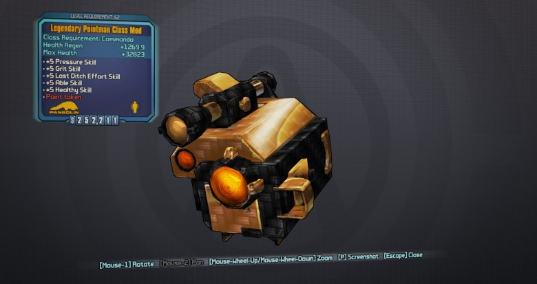 Legendary Pointman Class Mod - Borderlands 2