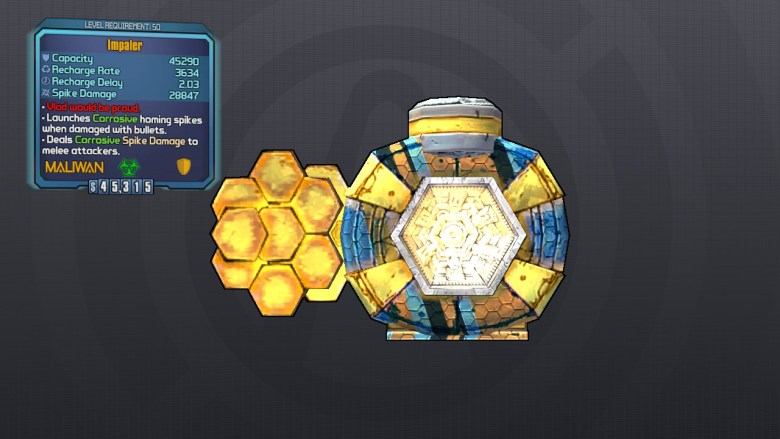 Legendary Impaler Shield - Borderlands 2