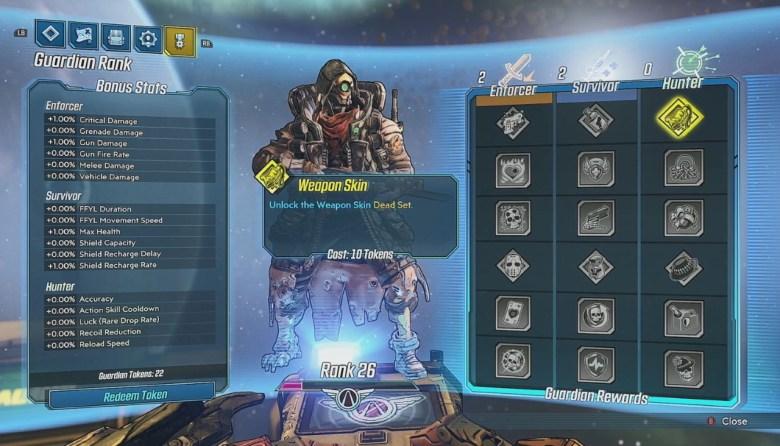 Borderlands 3 Guardian Rank Rewards