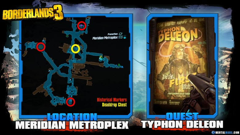 Borderlands 3 Typhon Deleon Historical Marker Quest Guide