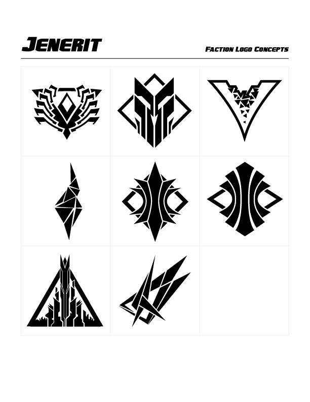 Jennerit Faction Concept Logos by Michael Paskar