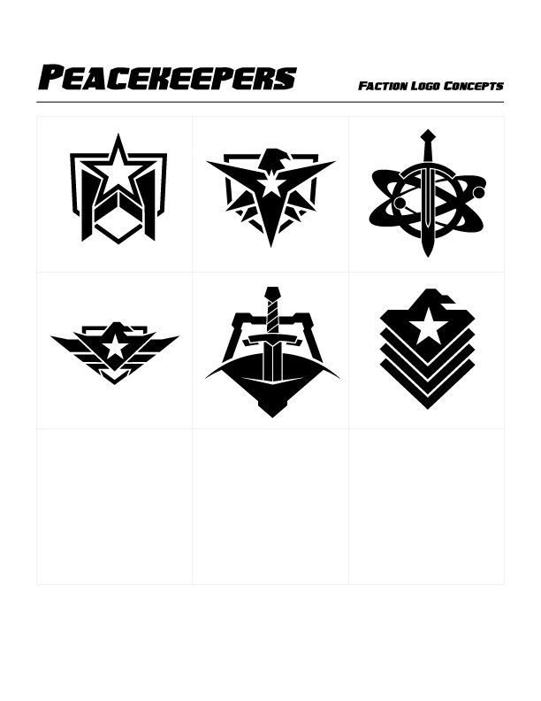 Peacekeeper Faction Concept Logos by Michael Paskar