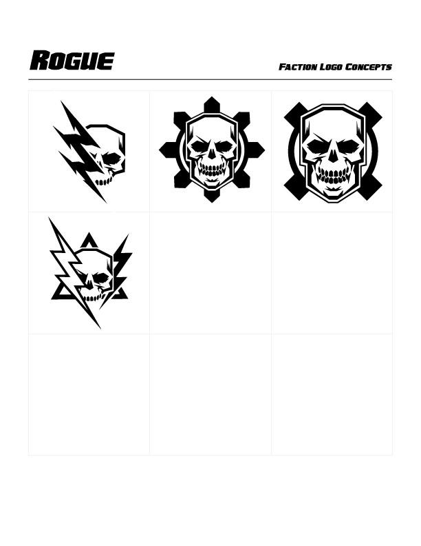 Rogue Faction Concept Logos by Michael Paskar