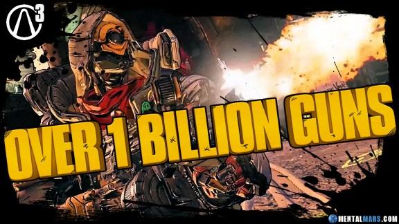 Borderlands 3 over 1 Billion guns in the game