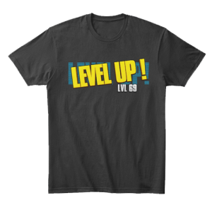 Level Up Merchandise by MentalMars