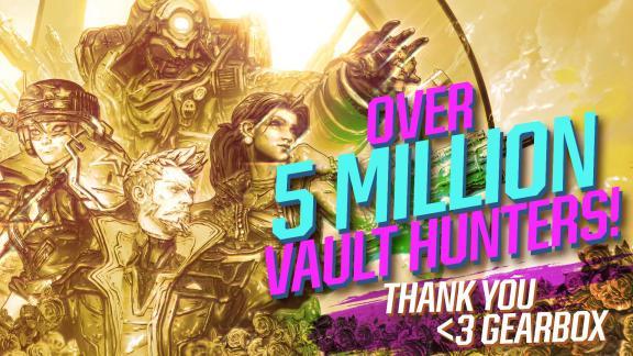 Over 5 Million Vault Hunters - Borderlands 3
