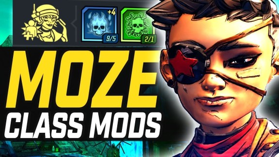 Moze - Legendary Class Mods Overview - Borderlands 3