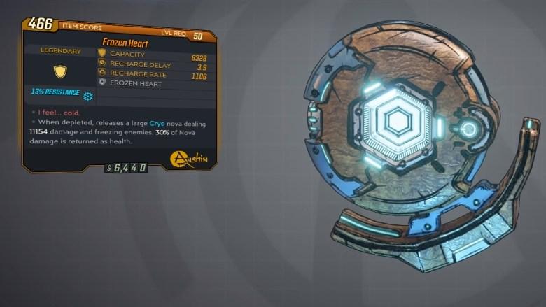 Borderlands 3 Legendary Anshin Shield - Frozen Heart