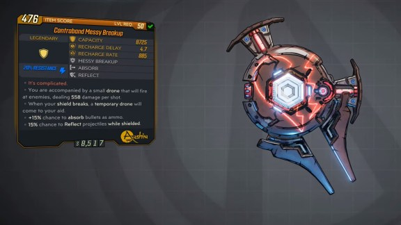 Borderlands 3 Legendary Anshin Shield - Messy Breakup