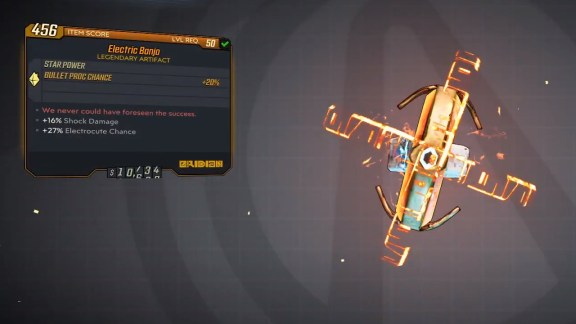 Borderlands 3 Legendary Eridian Artifact - Electric Banjo