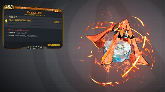 Borderlands 3 Legendary Eridian Artifact - Phoenix Tears