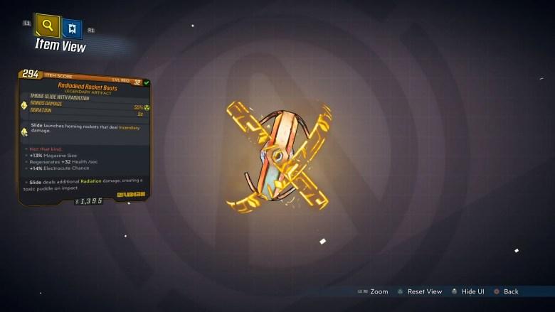 Borderlands 3 Legendary Eridian Artifact - Rocket Boots