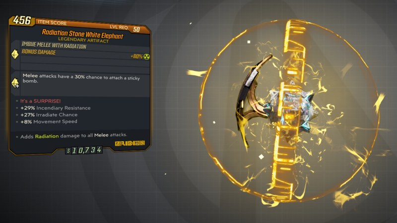Borderlands 3 Legendary Eridian Artifact - White Elephant