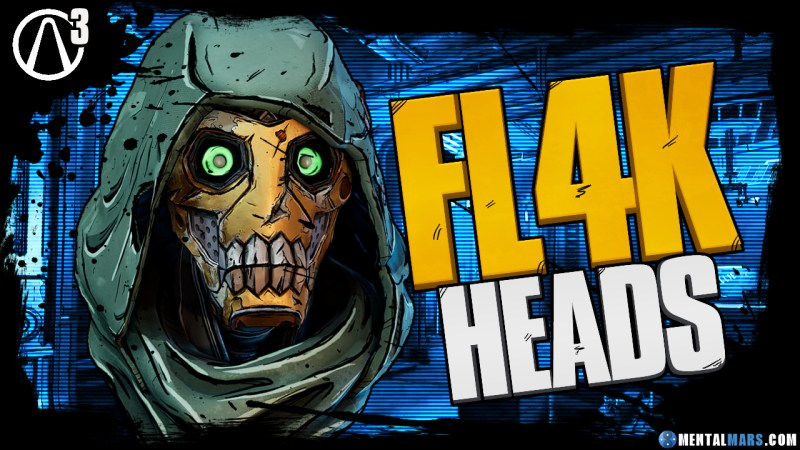 Fl4k Head Customizations Borderlands 3 Mentalmars
