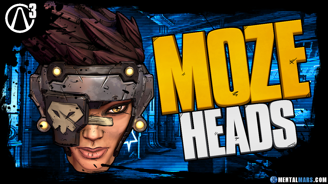 Moze S Head Customizations Borderlands 3 Mentalmars