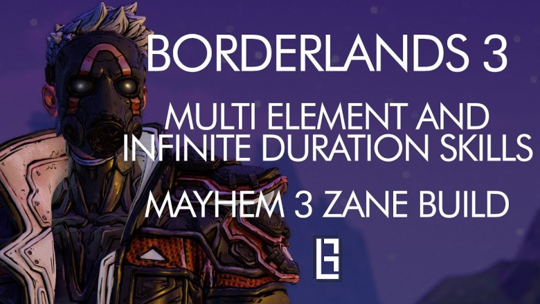 Zane Build - Multi Element And Infinite Duration Skills - Borderlands 3