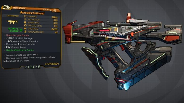 Borderlands 3 Legendary Hyperion SMG - Crossroad