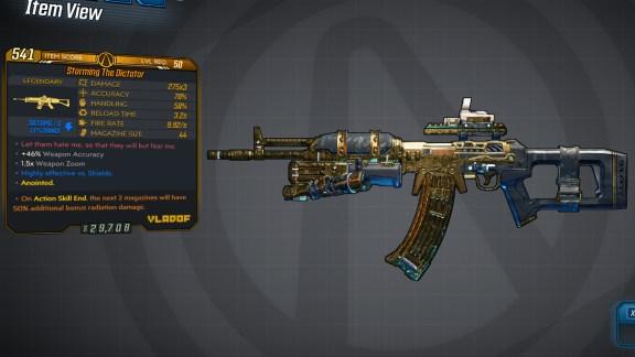 Borderlands 3 Legendary Vladof Assault Rifle - The Dictator