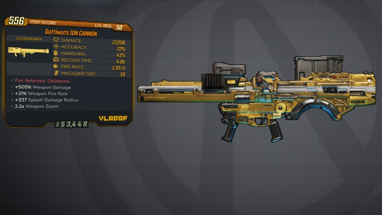 Borderlands 3 Legendary Vladof Rocket Launcher - ION CANNON