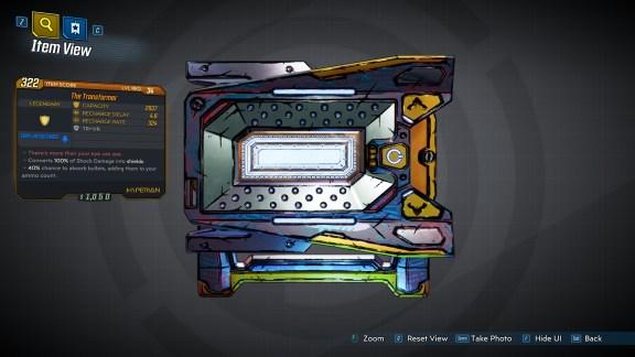 Borderlands 3 Legendary Hyperion Shield - The Transformer