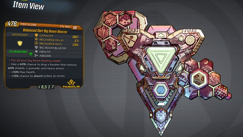 Borderlands 3 Legendary Pangolin Shield - Big Boom Blaster