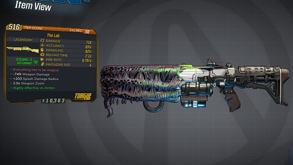 Borderlands 3 Legendary Torgue Shotgun - The Lob