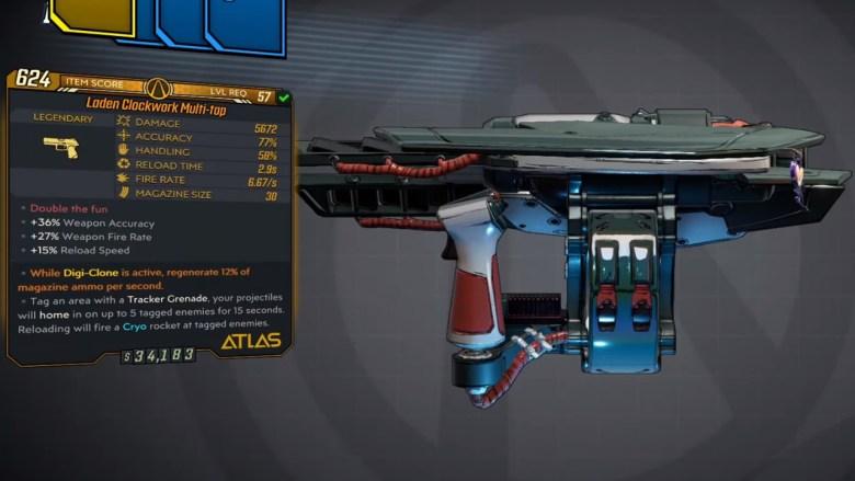 Borderlands 3 Legendary Atlas Pistol - Multi-tap