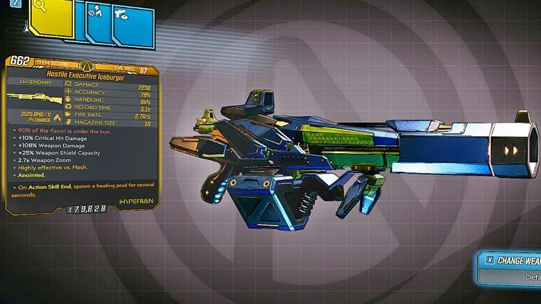 Borderlands 3 Legendary Hyperion Shotgun - Iceburger