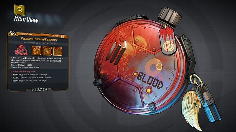 Borderlands 3 Legendary Gunner Class Mod - Bloodletter