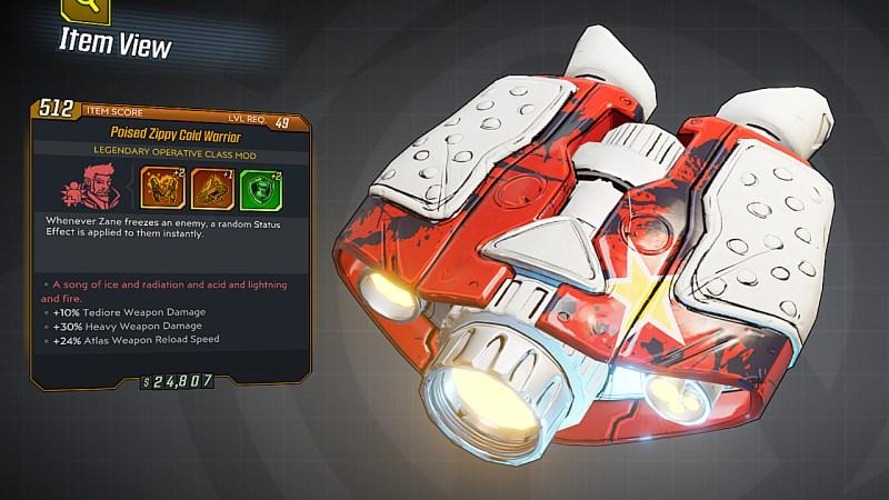Borderlands 3 Legendary Operative Class Mod - Cold Warrior