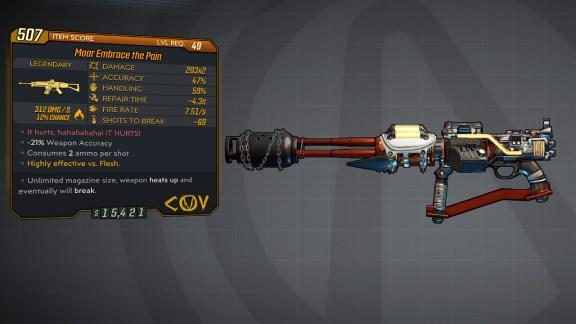 Borderlands 3 Legendary COV Assault Rifle - Embrace the Pain