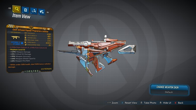 Borderlands 3 Legendary Hyperion SMG - Proprietary License