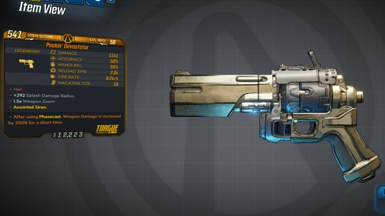 Borderlands 3 Legendary Torgue Pistol - Devastator