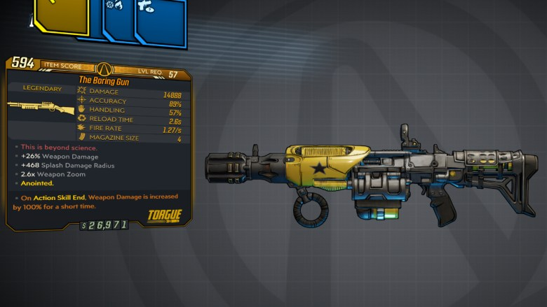 Borderlands 3 Legendary Torgue Shotgun - Boring Gun