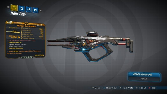 Borderlands 3 Legendary Maliwan Sniper Rifle - Krakatoa - LVL65