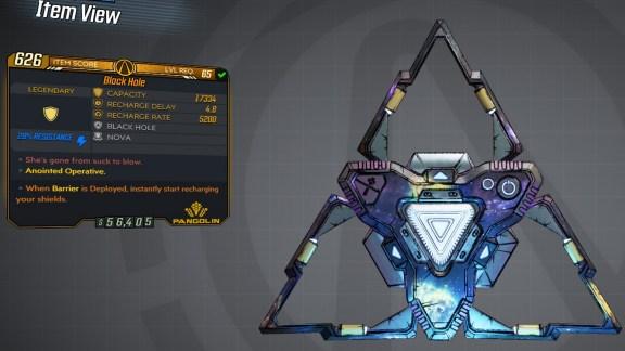Borderlands 3 Legendary Pangolin Shield - Black Hole