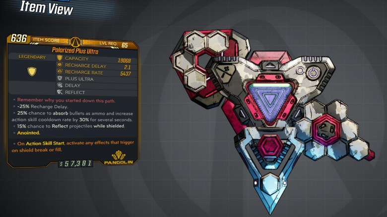 Borderlands 3 Legendary Pangolin Shield - Plus Ultra