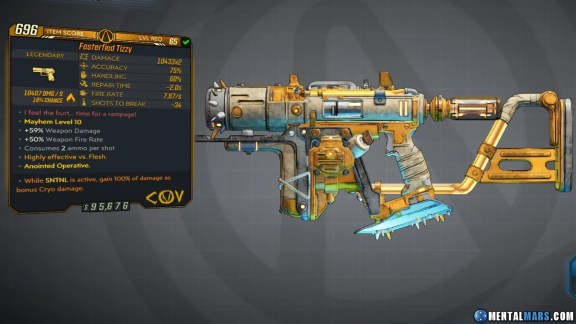 Borderlands 3 Legendary COV Pistol - Tizzy
