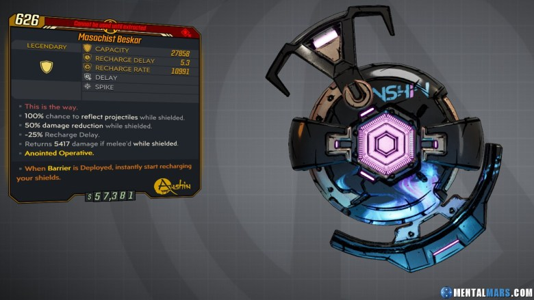 Borderlands 3 Legendary Anshin Shield - Beskar