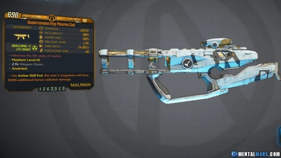 Borderlands 3 Legendary Maliwan SMG - Plasma Coil