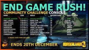 Borderlands 3 End Game Rush Season 1 Console