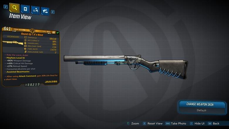 Borderlands 3 Legendary Jakobs Shotgun - T.K's Wave - LVL60