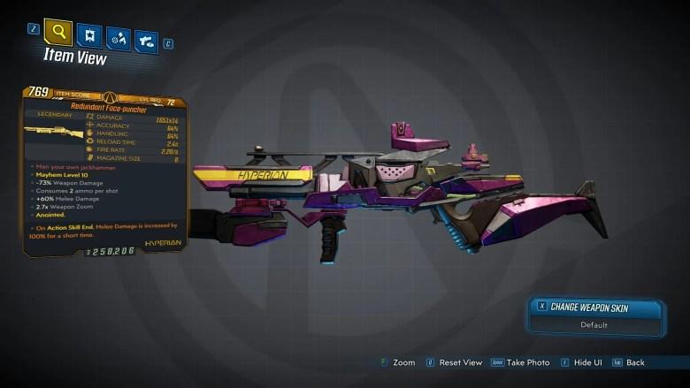 Borderlands 3 Legendary Hyperion Shotgun - Face-Puncher - LVL72